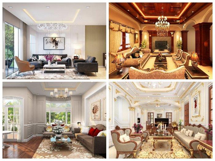 Mẹo thiết kế nội thất phòng khách nhà biệt thự SANG CHẢNH