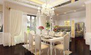 Khám phá mẫu thiết kế phòng ăn nhà chung cư Châu Âu đẹp sang trọng