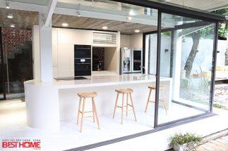 Tủ bếp gỗ Acrylic – Hoàn thiện dự án không gian bếp nhà anh Thảo Thái Nguyên post image