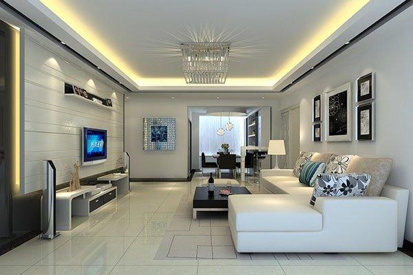 Thiết kế phòng khách nhà chung cư cao cấp đẹp sang trọng hiện đại