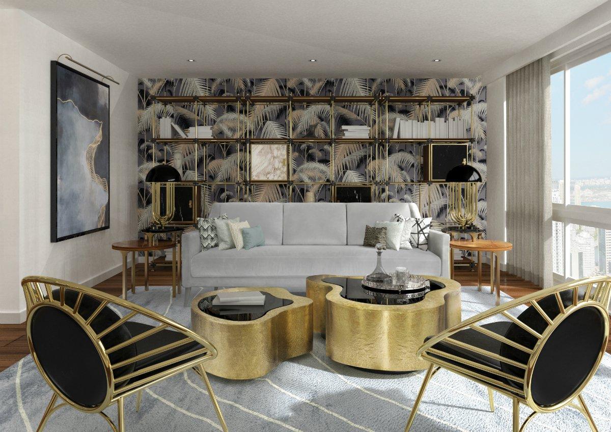 Mẫu thiết kế phòng khách chung cư cao cấp kiểu đương đại