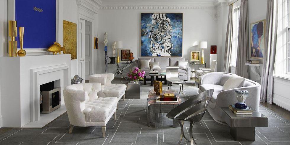 Thiết kế phòng khách chung cư cao cấp nghệ thuật đương đại