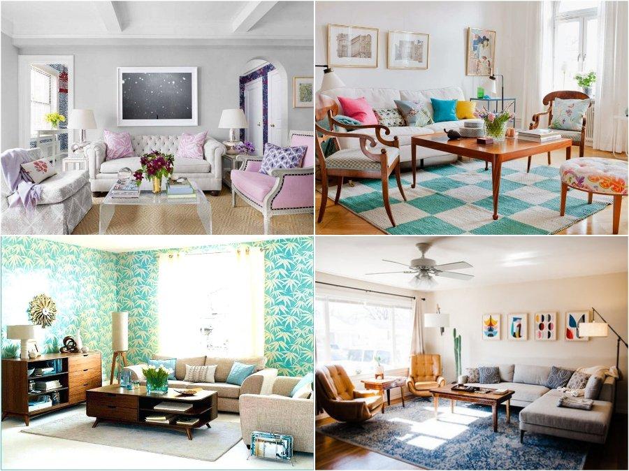 Mẫu thiết kế phòng khách nhà chung cư cao cấp kiểu Retro