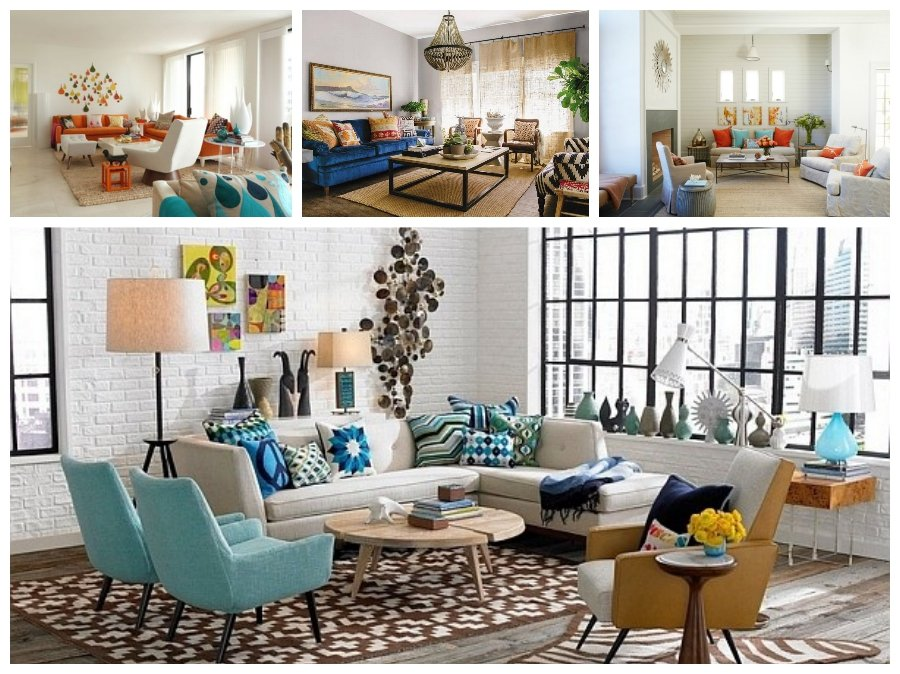 Mẫu thiết kế phòng khách nhà chung cư theo phong cách retro