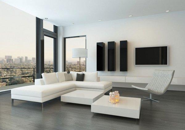 Mẫu thiết kế phòng khách nhà chung cư cao cấp đẹp Hitech