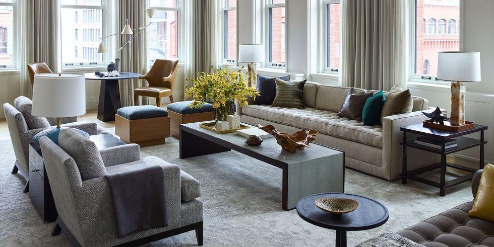 Mẫu thiết kế phòng khách nhà chung cư cao cấp phong cách Scandinavia