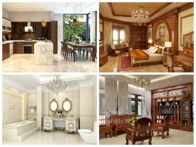 73 Mẫu thiết kế nội thất biệt thự Châu Âu đẹp sang trọng ấn tượng