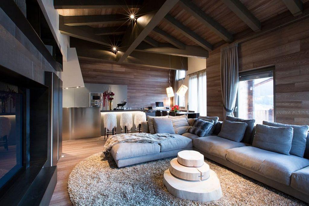 Mẫu thiết kế phòng khách nhà chung cư tại Thụy Sỹ
