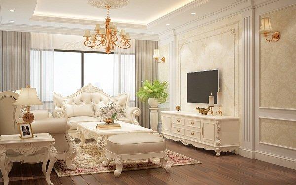 Mẫu thiết kế phòng khách chung cư cao cấp đẹp sang trọng