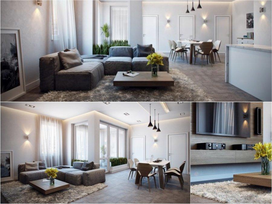 Mẫu thiết kế phòng khách nhà chung cư đẹp cao cấp tại Đức