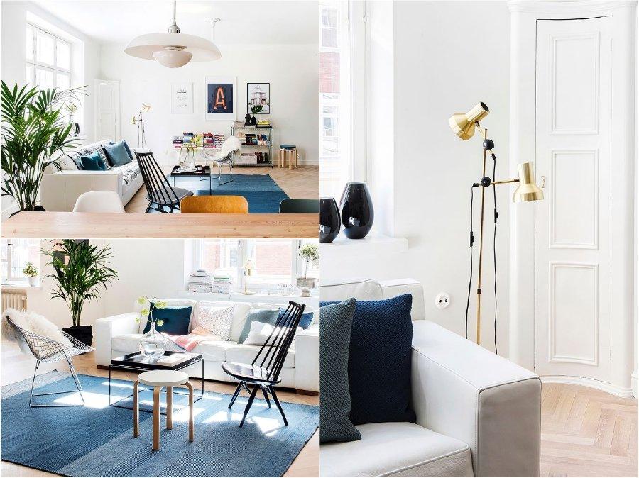 Mẫu thiết kế phòng khách nhà chung cư Phần Lan