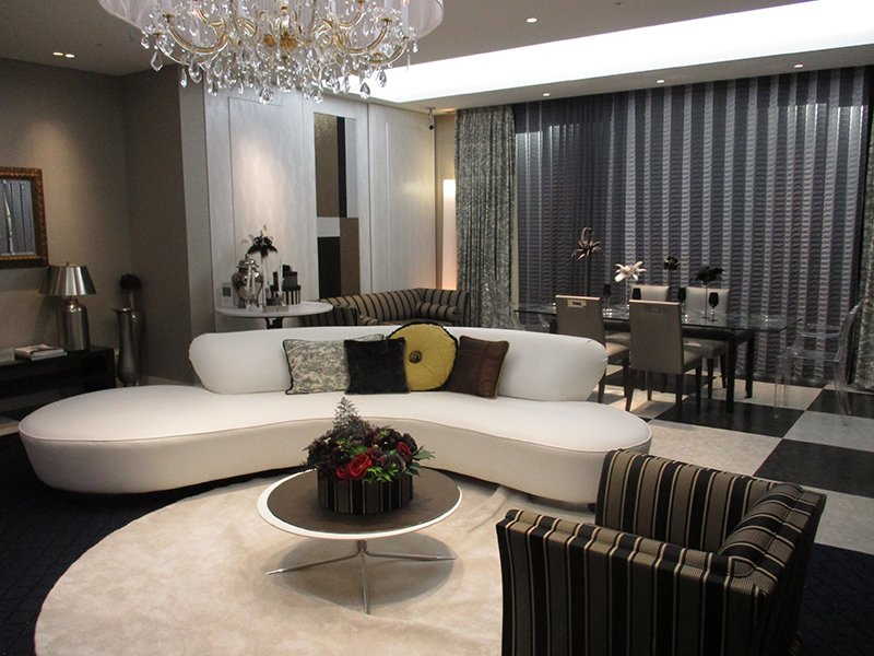 Mẫu thiết kế phòng khách nhà chung cư sang trọng
