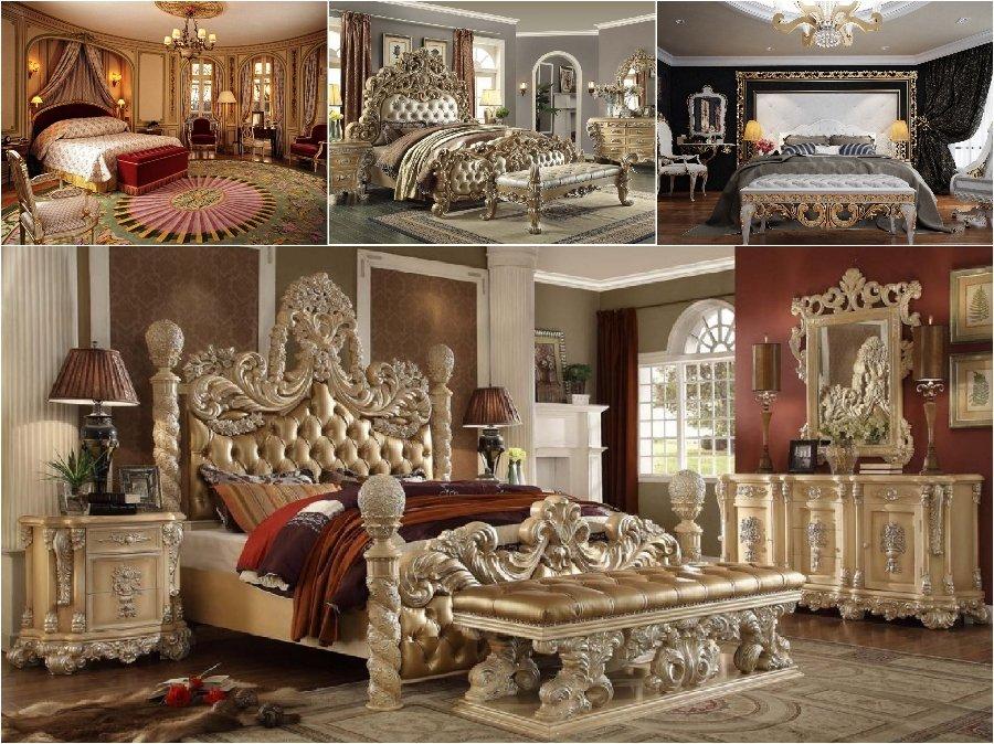 Mẫu thiết kế phòng ngủ nhà biệt thự cao cấp đẹp Châu Âu cổ điển