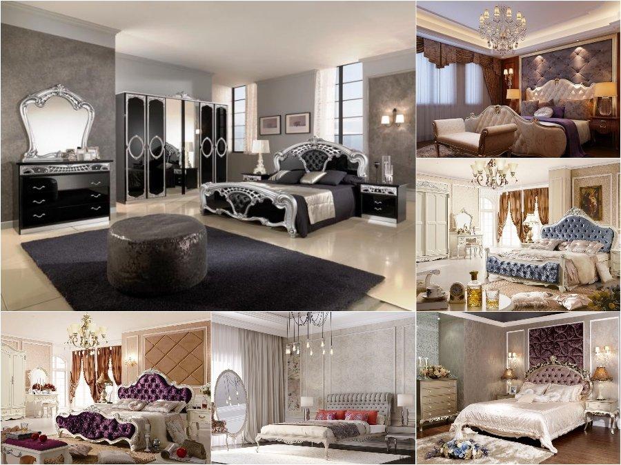 Mẫu thiết kế phòng ngủ nhà biệt thự cao cấp đẹp Châu Âu tân cổ điển