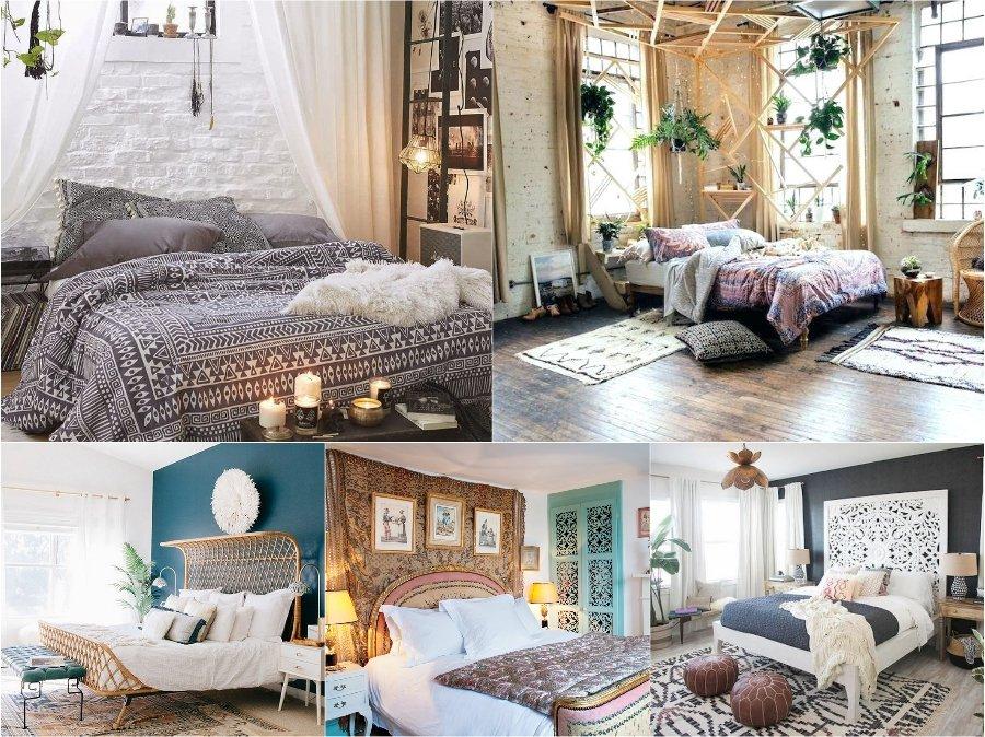 Mẫu thiết kế phòng ngủ nhà biệt thự sang trọng phong cách Bohemian