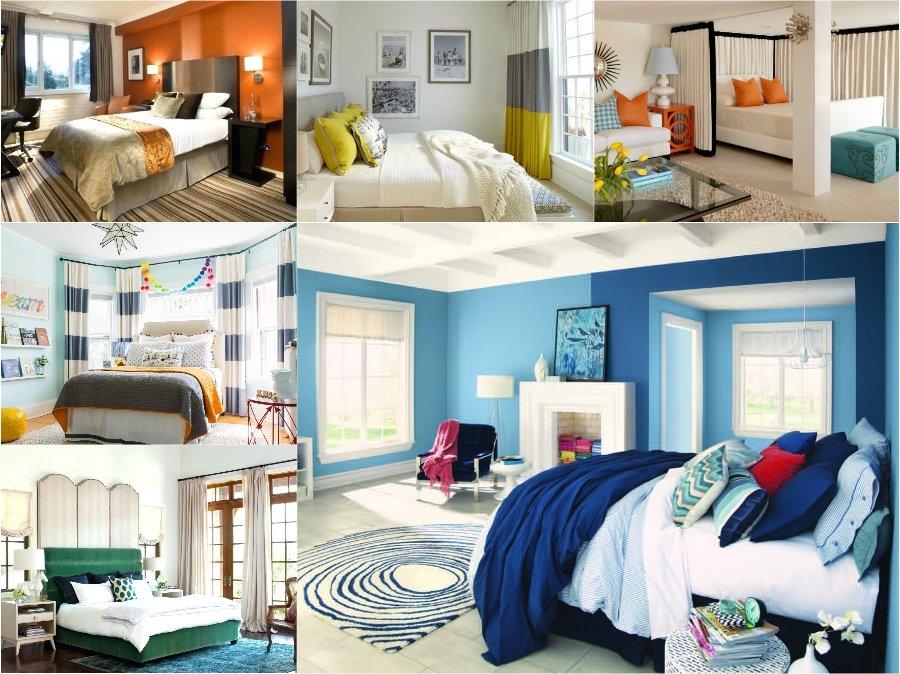 Mẫu thiết kế phòng ngủ nhà biệt thự phong cách Colour Block