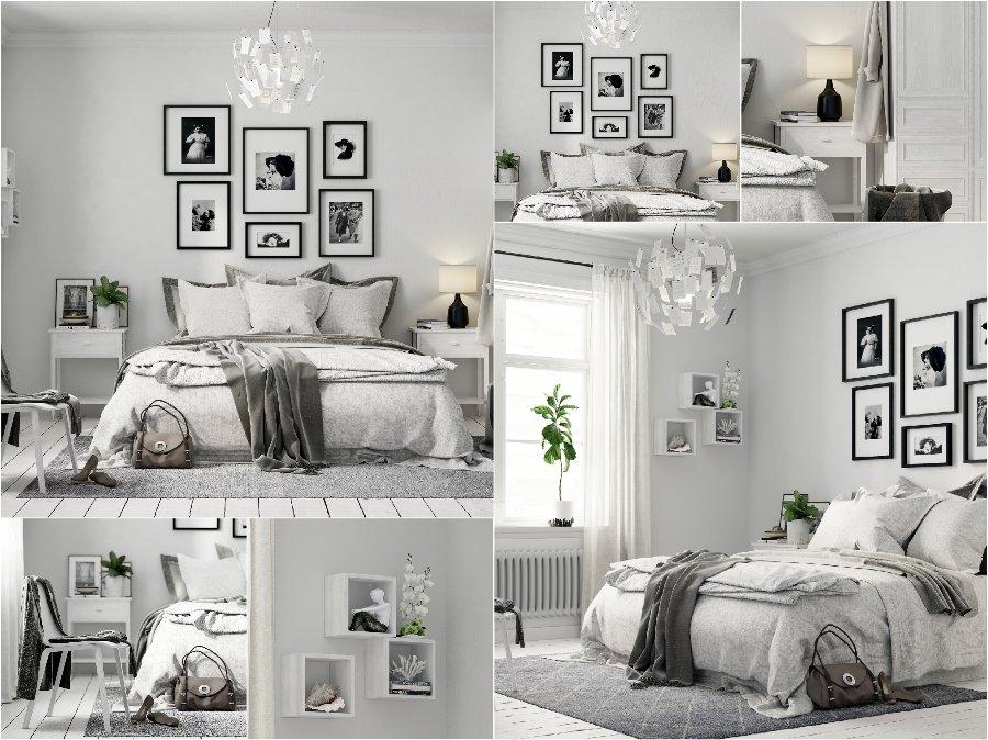 Mẫu thiết kế phòng ngủ nhà biệt thự đẹp Châu Âu Scandanavian