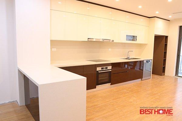 Tủ bếp gỗ Acrylic nhà anh Hải tại biệt thự liền kề Moon Bay Hạ Long post image