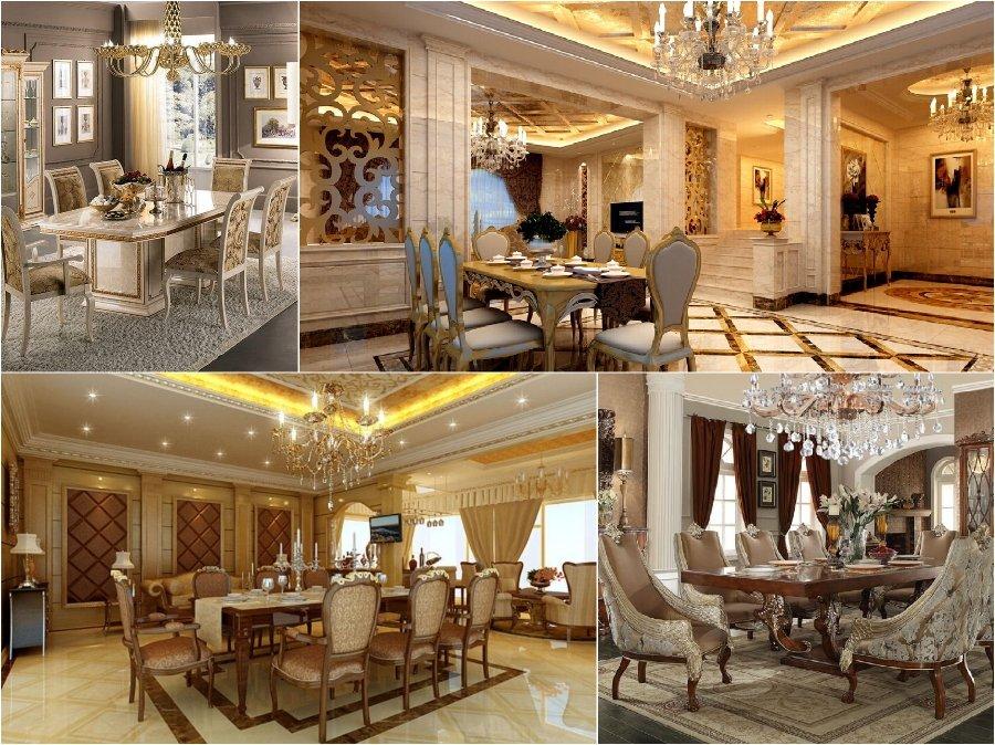Mẫu thiết kế phòng ăn nhà biệt thự cao cấp nước Ý