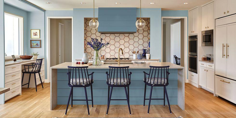 Mẫu thiết kế phòng bếp nhà biệt thự cao cấp sắc màu