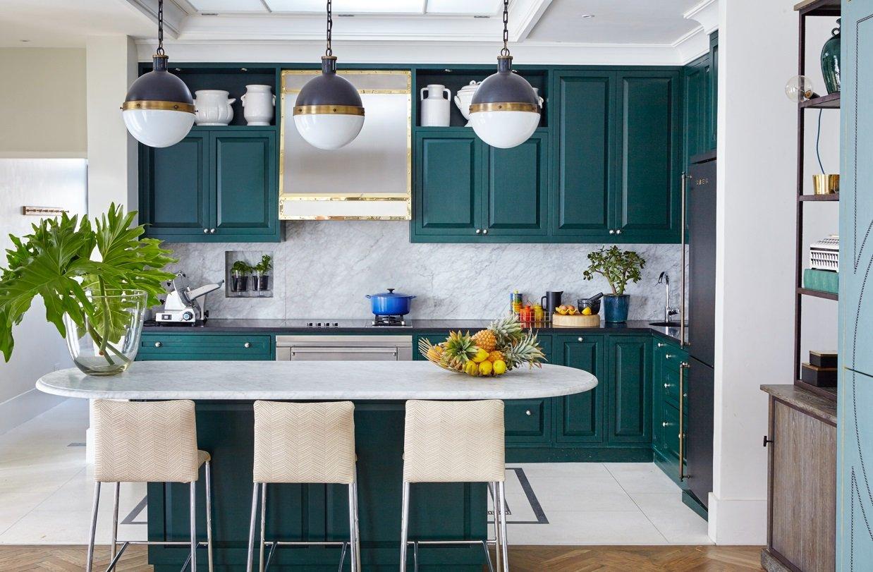 Mẫu thiết kế phòng bếp đẹp sang trọng sắc màu