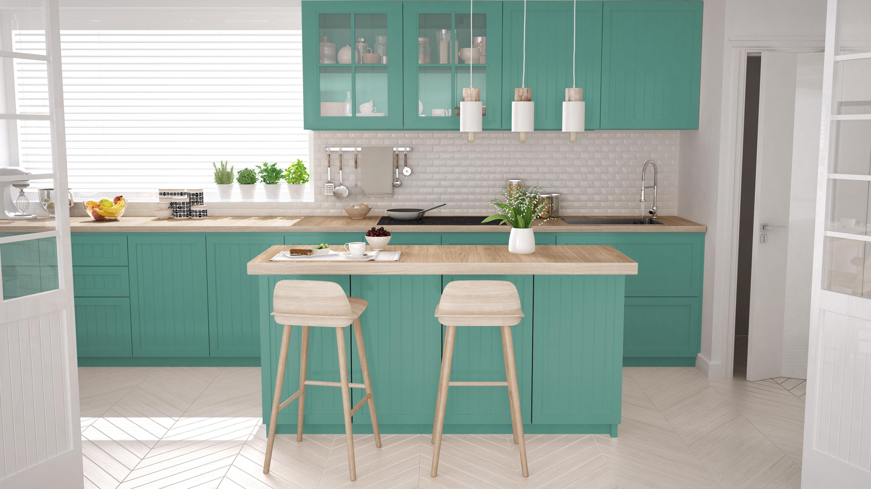 Mẫu thiết kế phòng bếp nhà biệt thự đẹp cao cấp sắc màu