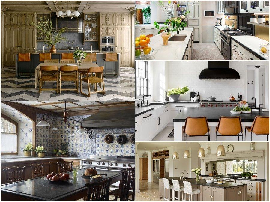 Mẫu thiết kế phòng bếp nhà biệt thự đẹp Châu Âu