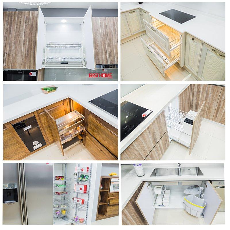 Phụ kiện tủ bếp và cách bố trí khu vực trong tủ bếp thông minh post image
