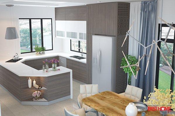 Phong cách tủ bếp hiện đại với chất liệu Laminate tại biệt thự nhà Mr. Khánh – Ecopark post image