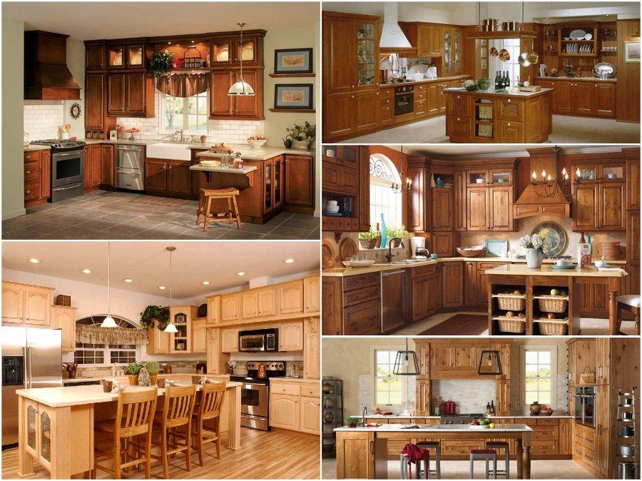 Mẫu tủ bếp gỗ đinh hương cao cấp hiện đại