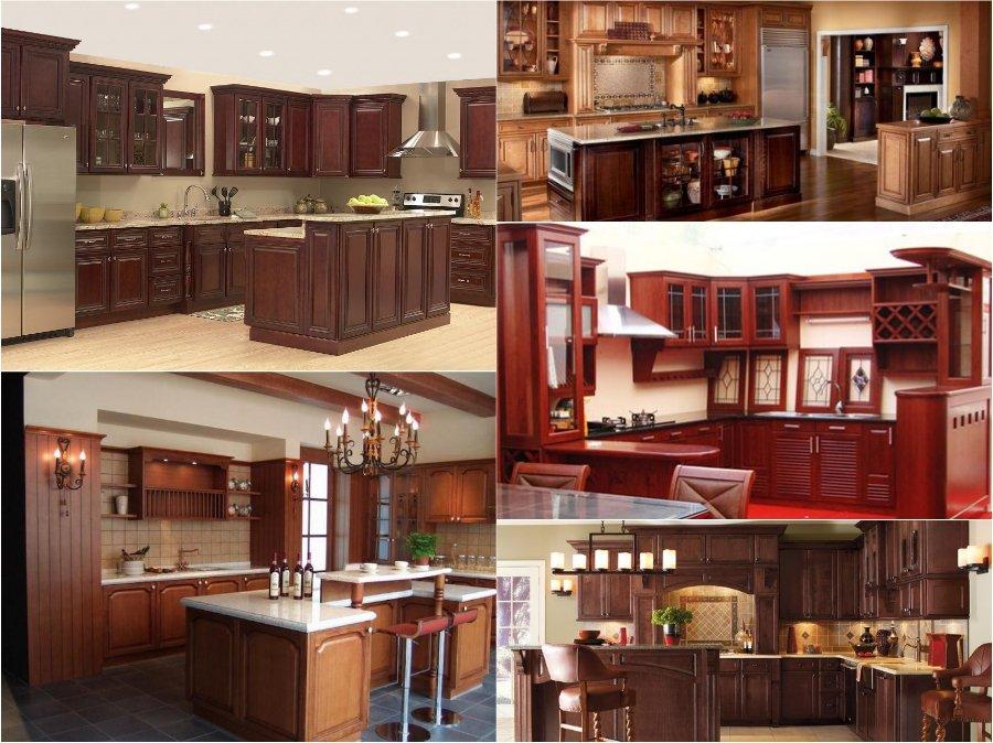 Mẫu thiết kế tủ bếp gỗ giáng hương đẹp cao cấp