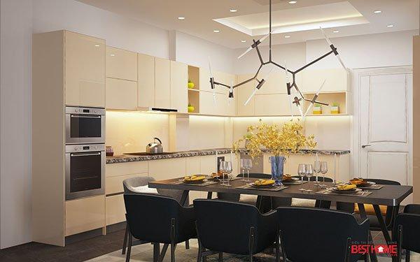 Không gian bếp hiện đại chất liệu Acrylic tại biệt thự nhà Mrs. Sự – Hà Đông post image