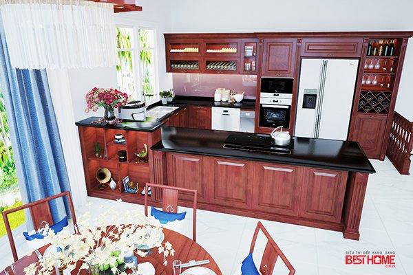 Không gian bếp nhà Ms Tươi – vinhomes riverside – Phong cách bếp hạng sang  cho nhà biệt thự