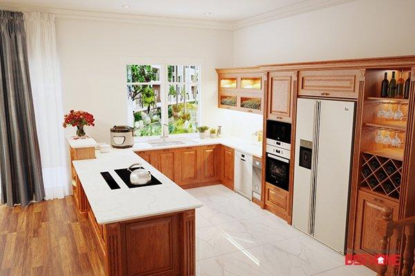 Không gian bếp nhà Ms.Tươi – Vinhomes Riverside – Phong cách bếp hạng sang  cho nhà biệt thự thumbnail