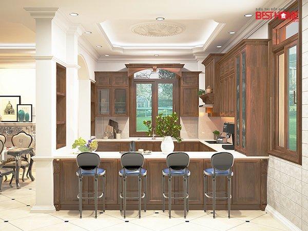 Không gian bếp nhà Mrs. Bích – Pháp Vân – Phong cách không gian bếp mở hạng sang cho nhà biệt thự