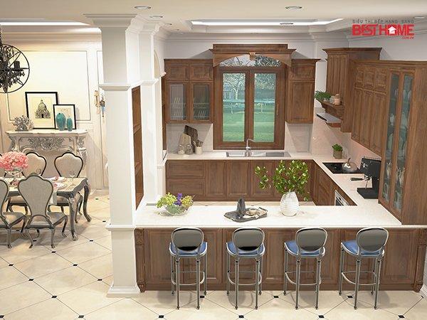 Không gian bếp nhà Mrs. Bích – Pháp Vân – Phong cách không gian bếp mở hạng sang cho nhà biệt thự post image