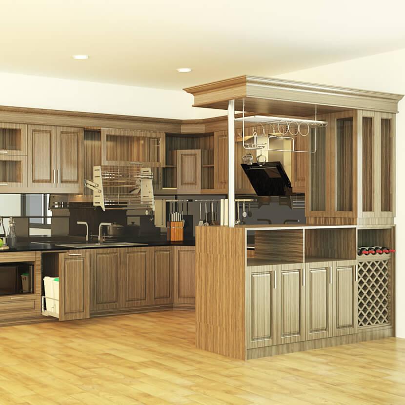 TOP 30 mẫu tủ bếp gỗ có quầy bar ĐỘC LẠ năm 2019 KHÔNG THỂ BỎ QUA post image