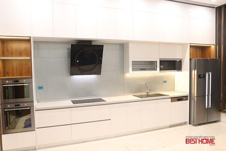 Tủ bếp gỗ Acrylic – Hoàn thiện công trình tủ bếp nhà Mrs. Tuyết – Phan Đình Phùng – Hà Nội