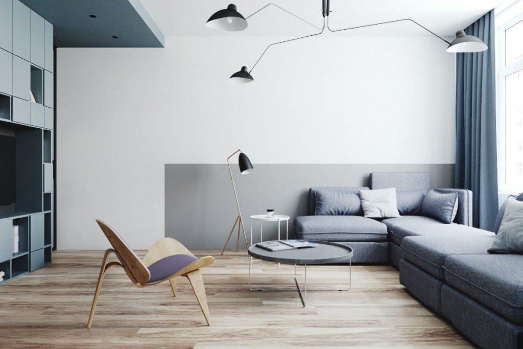 Bàn ghế phòng khách phong cách Bắc Âu cho phòng có diện tích hẹp