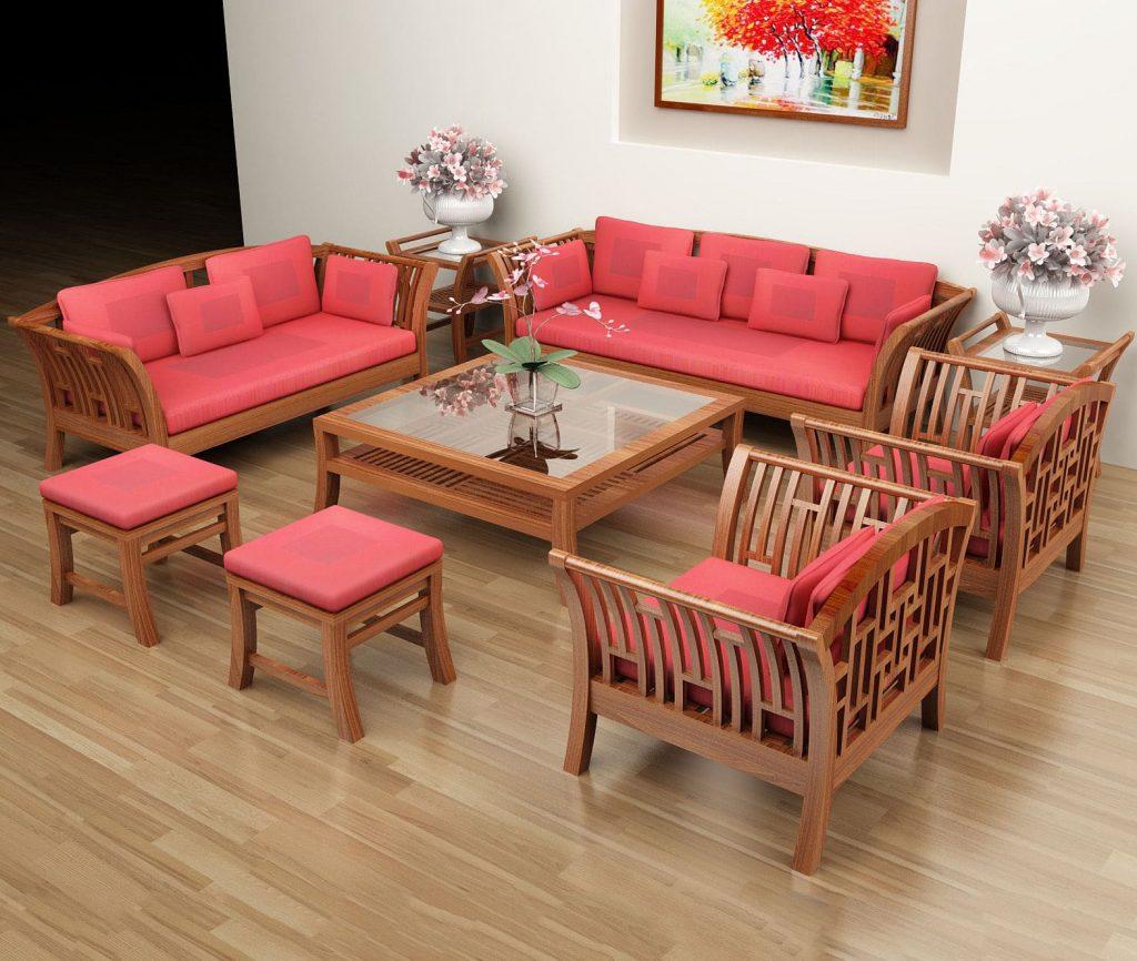Bàn ghế phòng khách phong cách đơn giản
