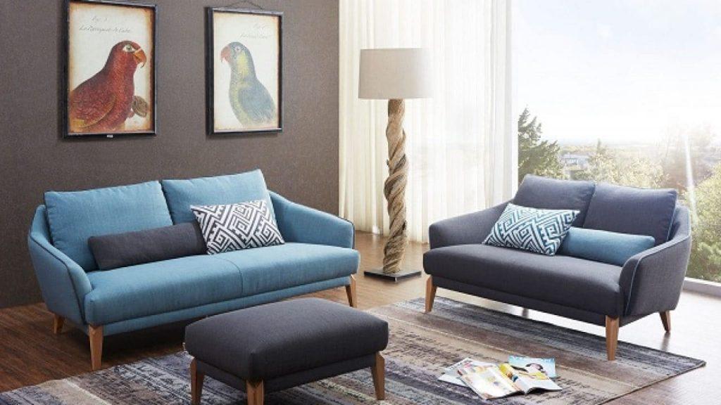 Bàn ghế sofa vải phòng khách