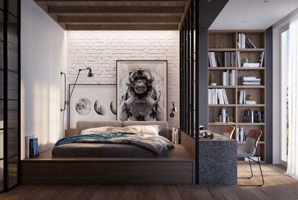 5 loại vật liệu làm vách ngăn phòng ngủ phổ biến hiện nay