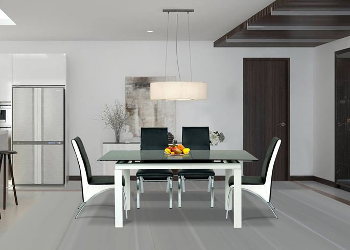 Mẫu bàn ăn 4 ghế hiện đại sang trọng