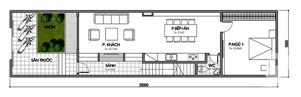 Bản vẽ nhà cấp 4 mái thái