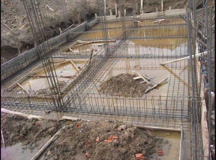 Phần móng khi xây nhà