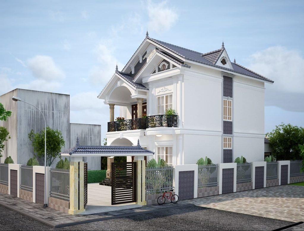 Thiết kế nhà biệt thự 2 tầng 100m2 mini