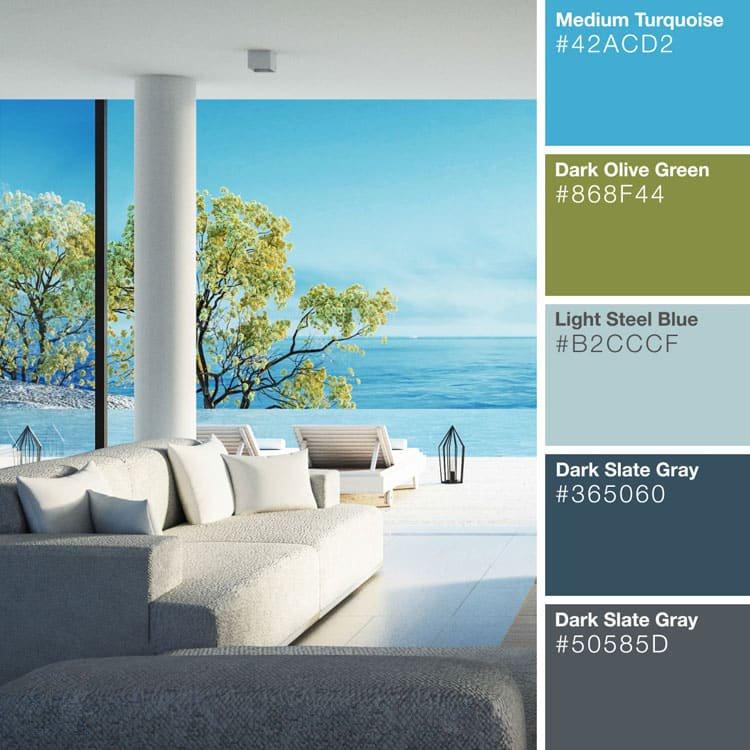 Thiết kế căn hộ xanh ngọc lục bảo
