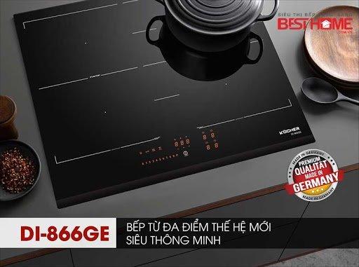 Bộ 3 Quái vật DI806GE02 – DI866GE – DI855GE  của Kocher trong giới Bếp Từ, mê hoặc khách hàng trong năm 2020 như thế nào? Bếp cảm ứng từ Kocher nhập khẩu nguyên chiếc của Đức , bếp từ đôi kocher DI-806GE02 , bếp từ 3 bếp kocher DI-855GE , bếp từ đa điểm kocher DI866GE