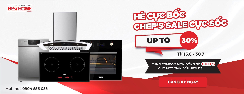 Chương trình khuyến mãi bếp từ đức Chefs